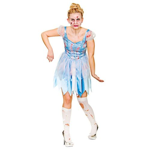 Ladies Cinders After Dark Costume for Cinderella Fairytale Princess Fancy Dress